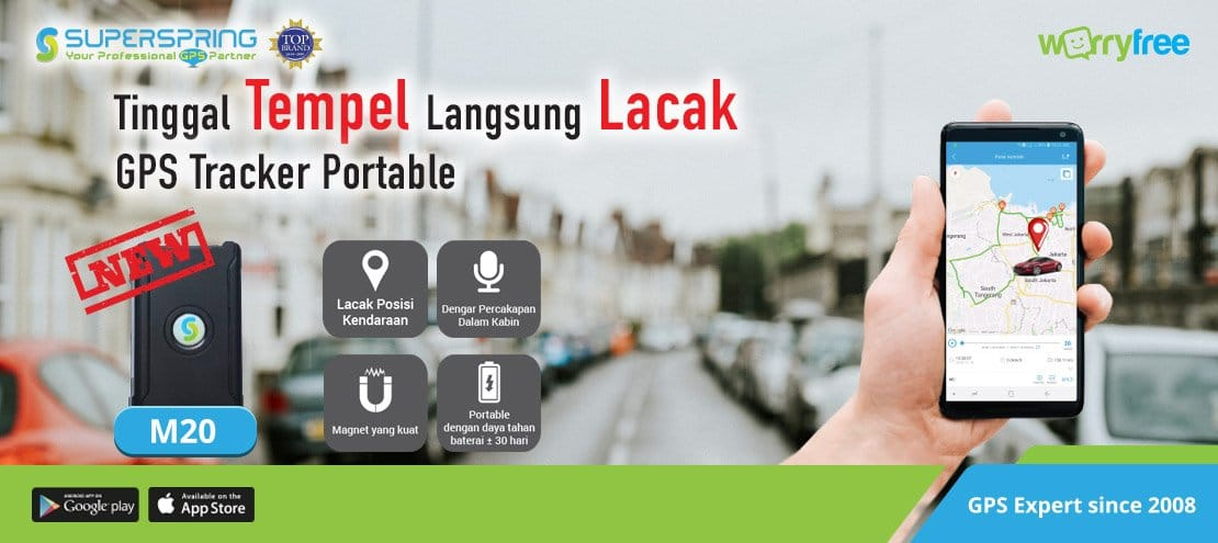 jual gps tracker superspring m20